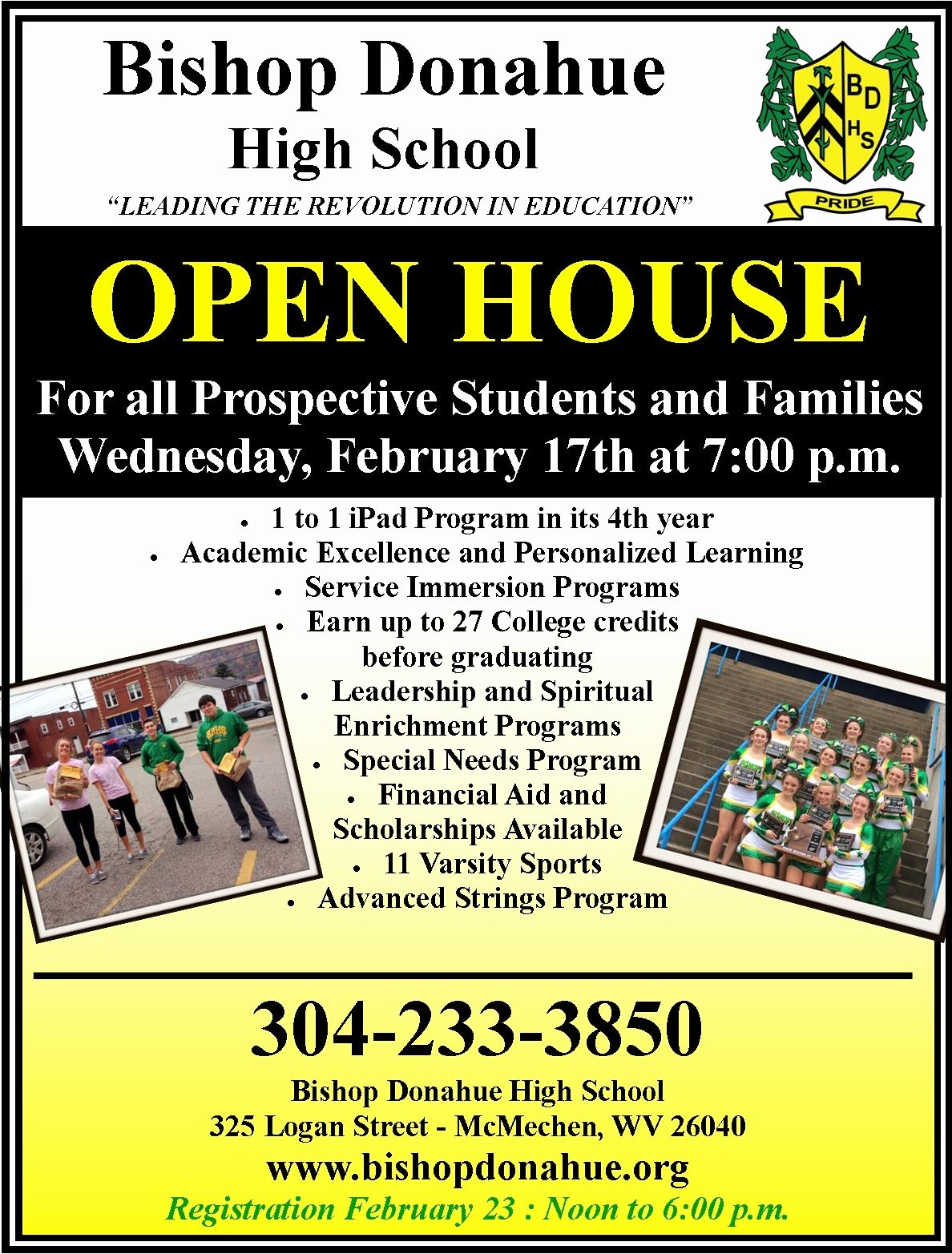 Open House Flyer for School Lovely News Archives Page 10 Of 34 Bishop Donahue High School