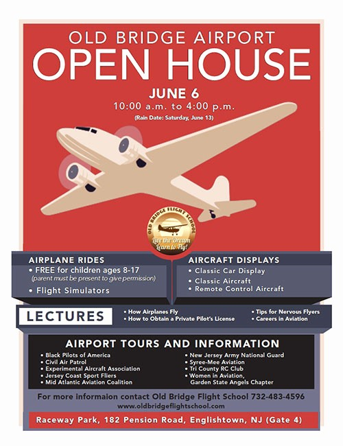 Open House Flyer for School Lovely Old Bridge Flight School Live the Dream Learn to Fly