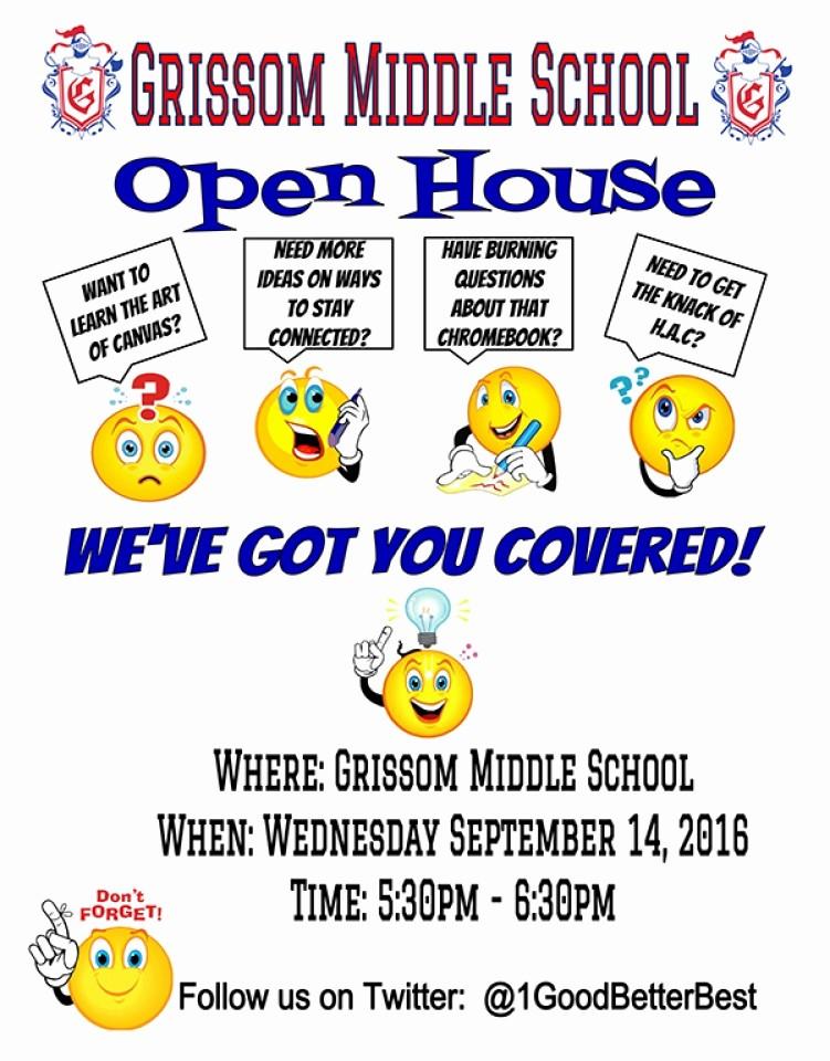Open House Flyer for School Lovely Open House