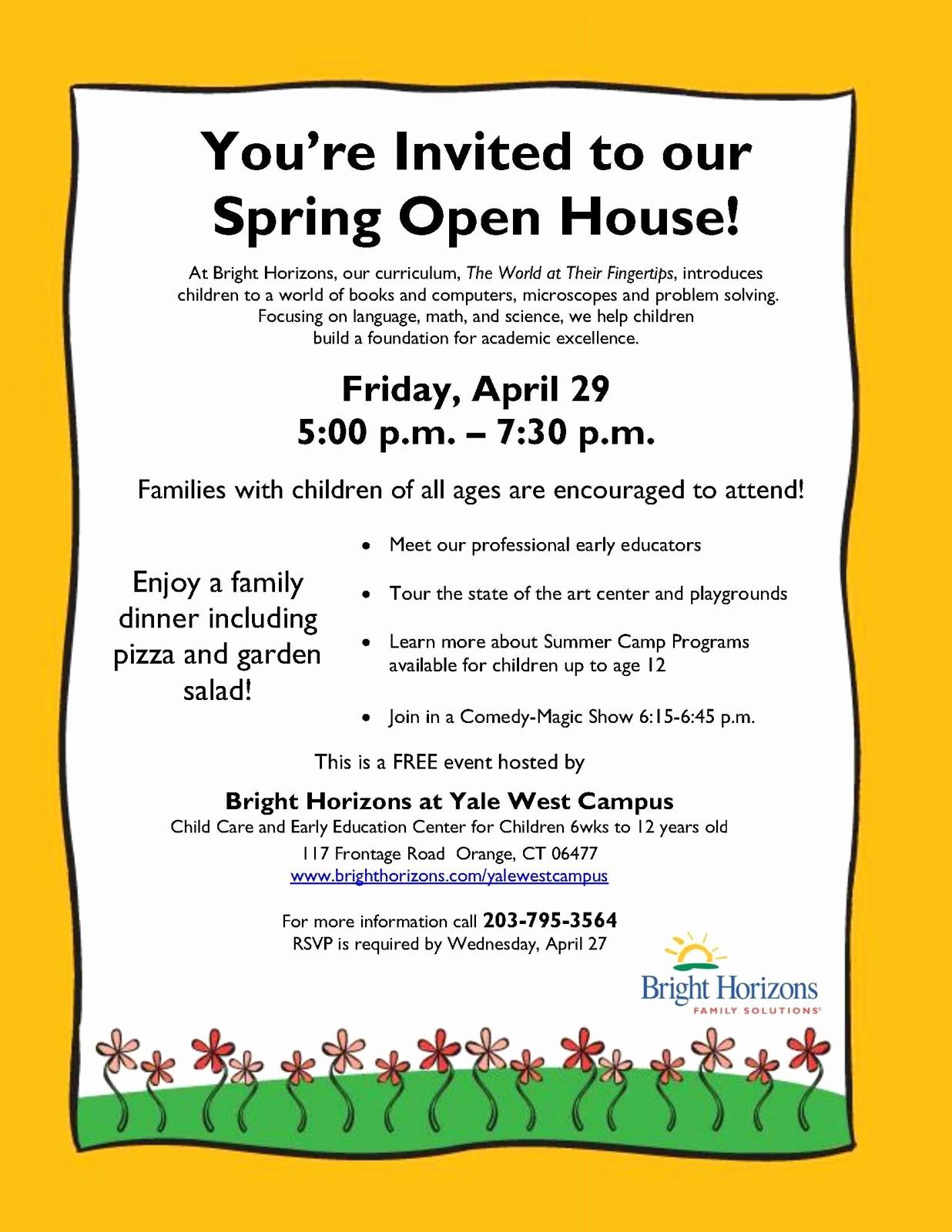 Open House Flyer for School Lovely School Open House Flyer Template Portablegasgrillweber