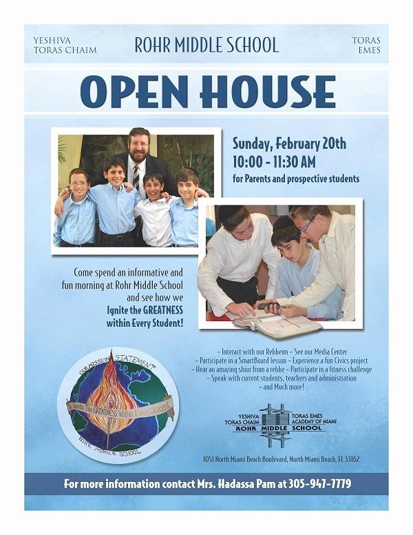 Open House Flyer for School Lovely Ytc Alumni Newsletter