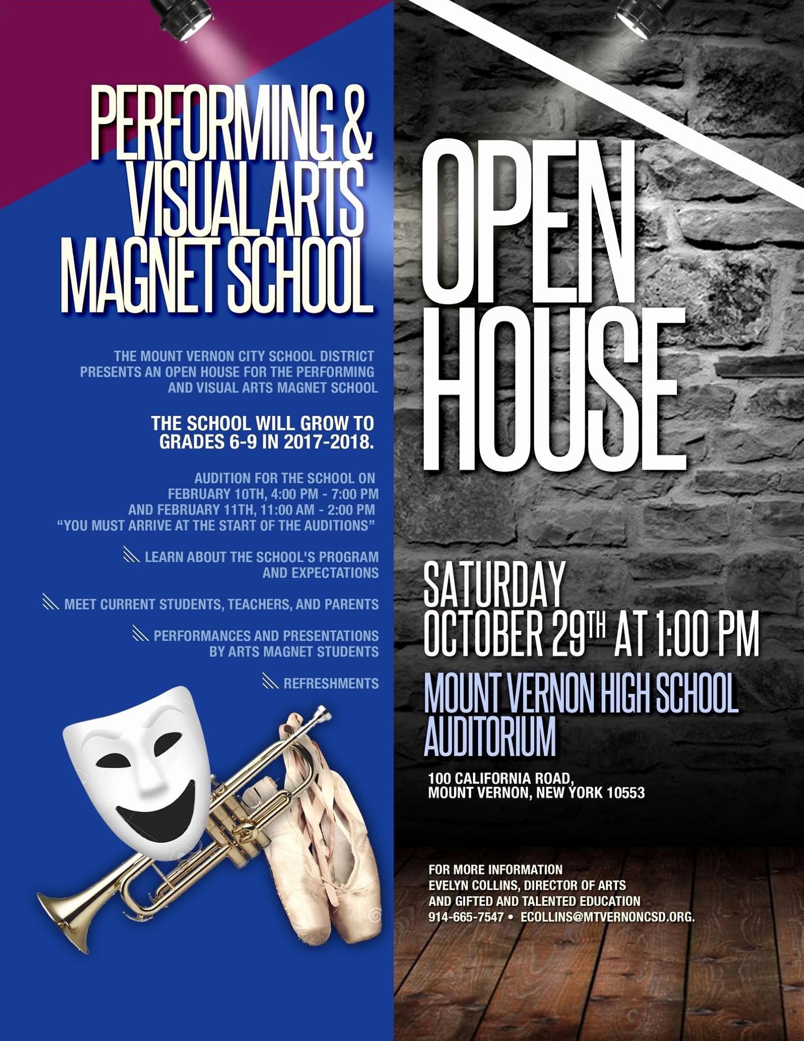 Open House Flyer for School Luxury Home Mt Vernon Csd