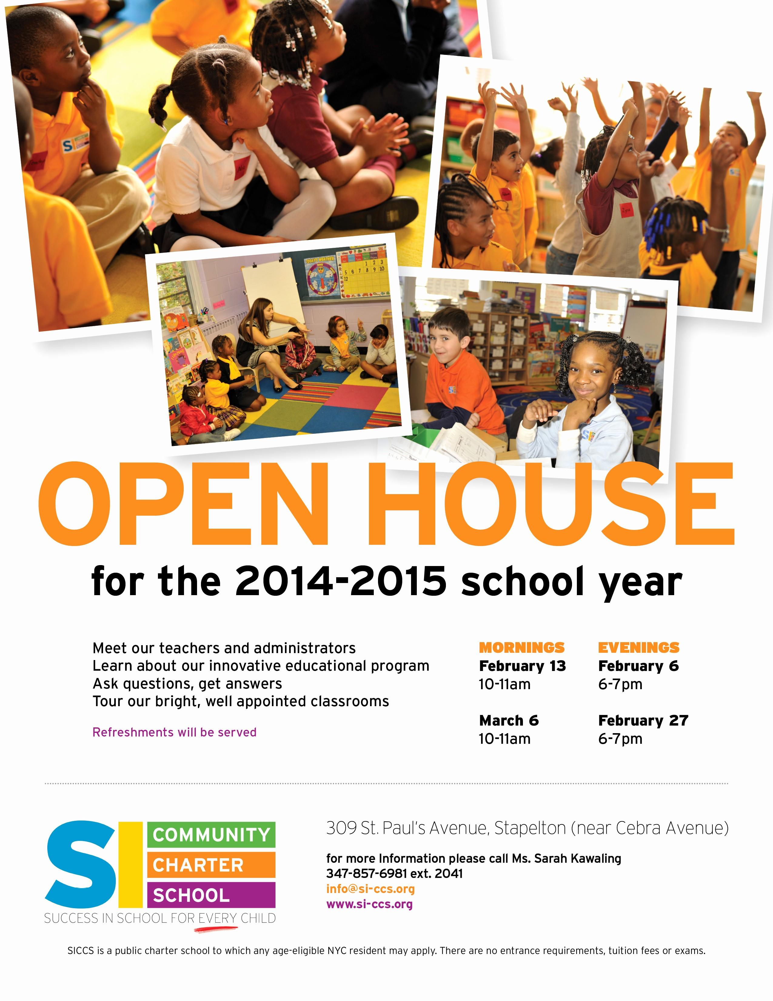 Open House Flyer for School Luxury School Open House Flyer Template Portablegasgrillweber