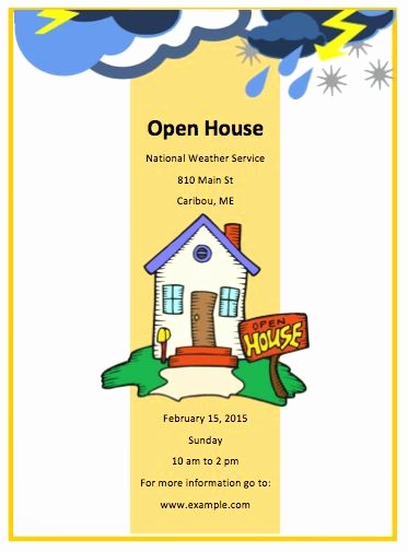 Open House Flyer for School Unique Open House Flyer Template Free Yourweek 27ada8eca25e