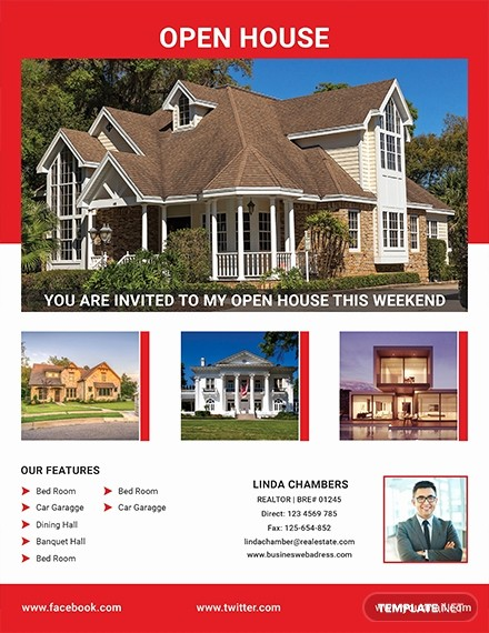 Open House Flyer Template Free Awesome Free Broker Open House Flyer Template Download 640