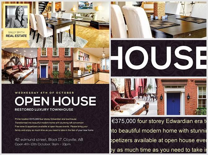 Open House Flyer Template Free Beautiful Open House Flyer Template Flyerheroes