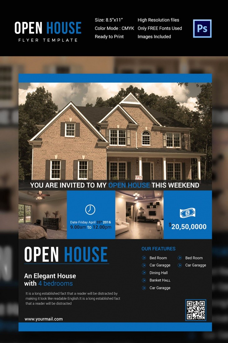 Open House Flyer Template Free Best Of 27 Open House Flyer Templates Printable Psd Ai Vector