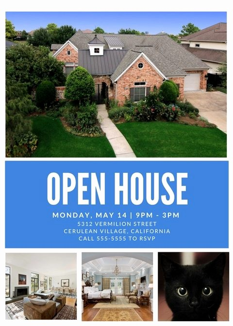 Open House Flyer Template Free Best Of Free Open House Flyer Templates – Download & Customize