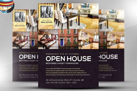 Open House Flyer Template Free Best Of Open House Flyer Template Flyer Templates On Creative Market