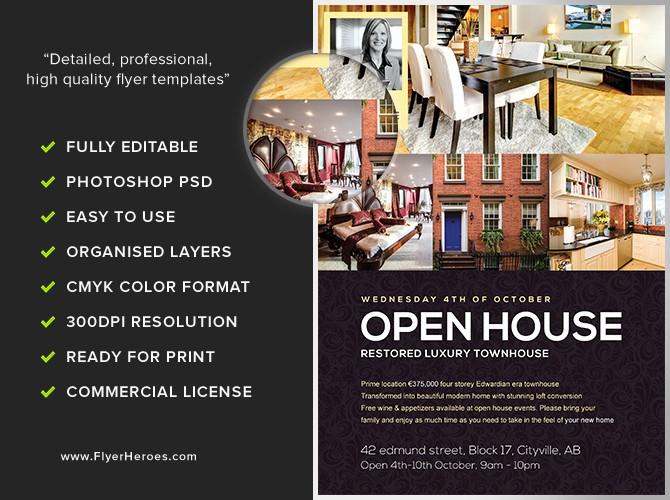 Open House Flyer Template Free Best Of Open House Flyer Template Flyerheroes