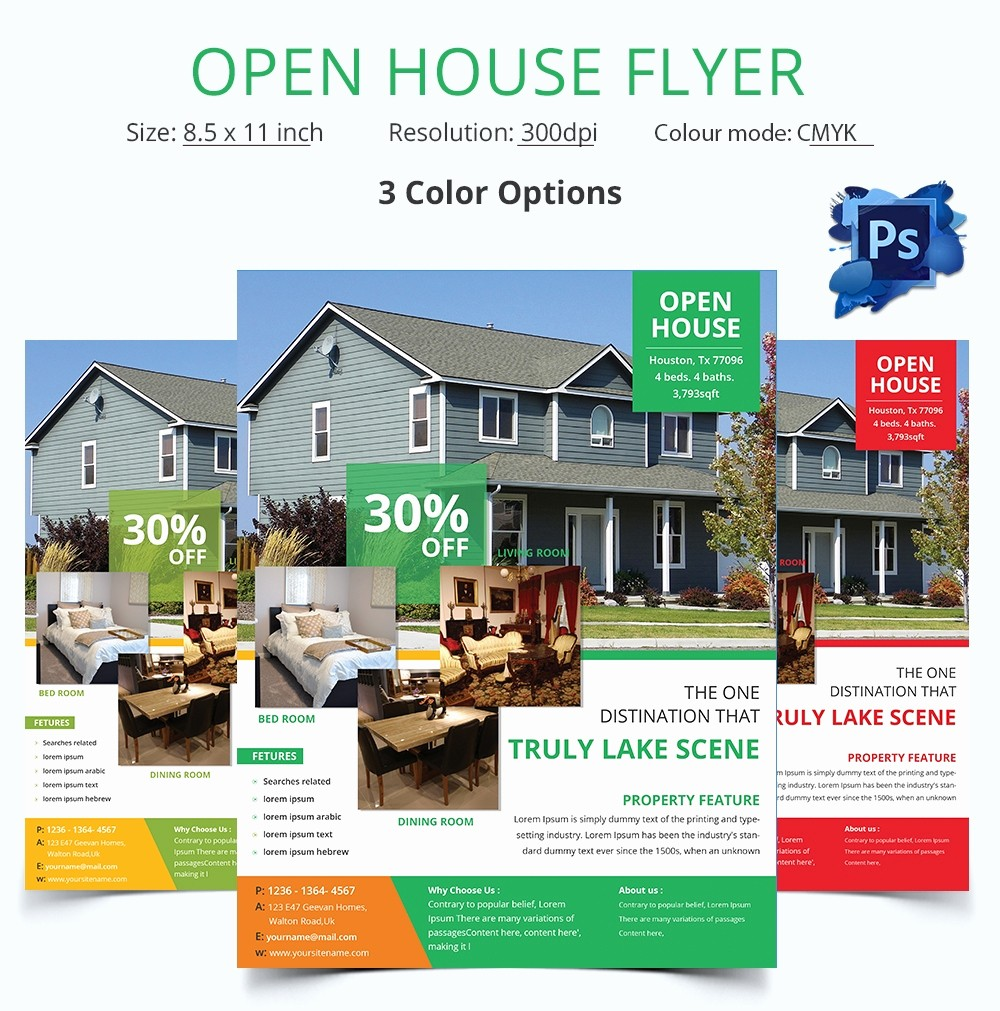 Open House Flyer Template Free Elegant Open House Flyer Template – 30 Free Psd format Download
