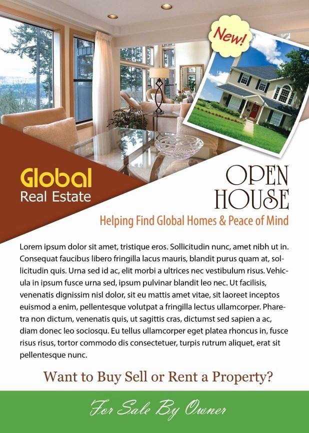 Open House Flyer Template Free Elegant Open House Flyer Template Shop Version Free Flyer