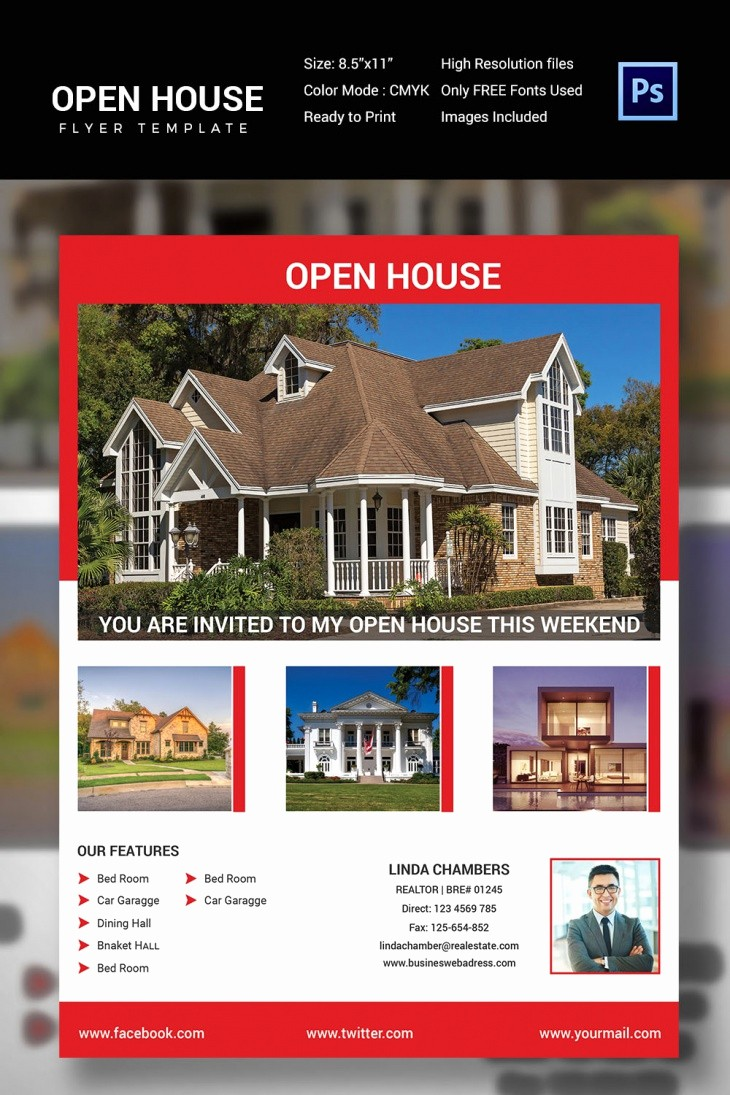 Open House Flyer Template Free Fresh 27 Open House Flyer Templates Printable Psd Ai Vector