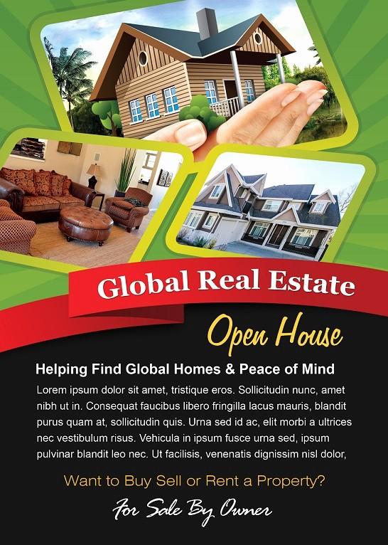 Open House Flyer Template Free Fresh Open House Flyer Design Green theme Shop Version