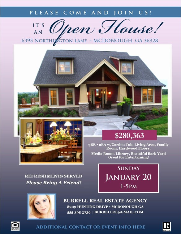 Open House Flyer Template Free Inspirational 13 House for Sale Flyer Templates