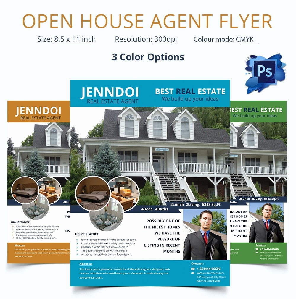 Open House Flyer Template Free Lovely Open House Flyer Template – 30 Free Psd format Download