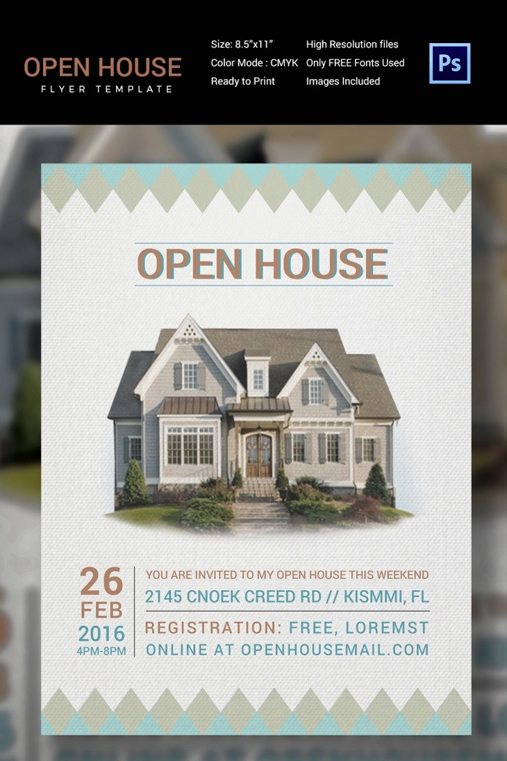 Open House Flyer Template Free New 27 Open House Flyer Templates Printable Psd Ai Vector