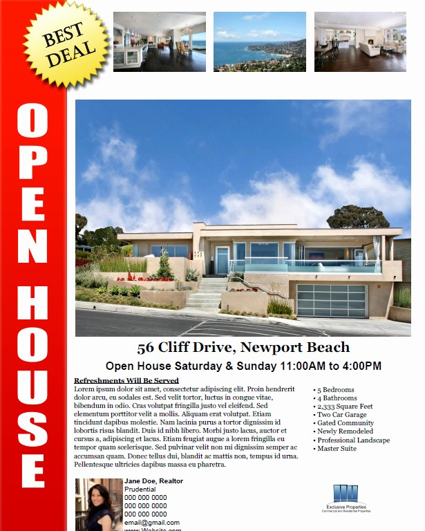 Open House Flyer Template Free New Bill Sale form Pdf