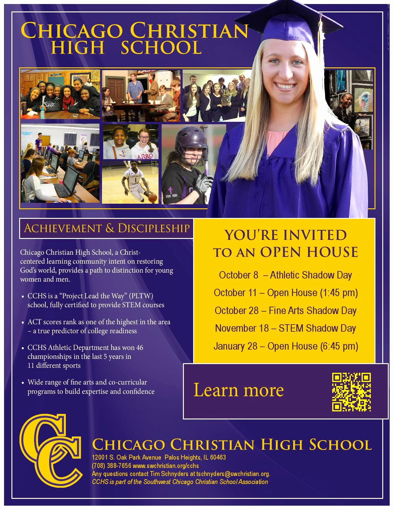 Open House Flyers for School Awesome Chicago Christian High School Open House Shine Fm Chicago
