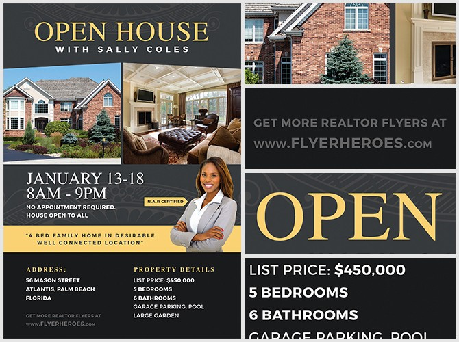 Open House Flyers for School Awesome Open House Flyer Template 2 Flyerheroes