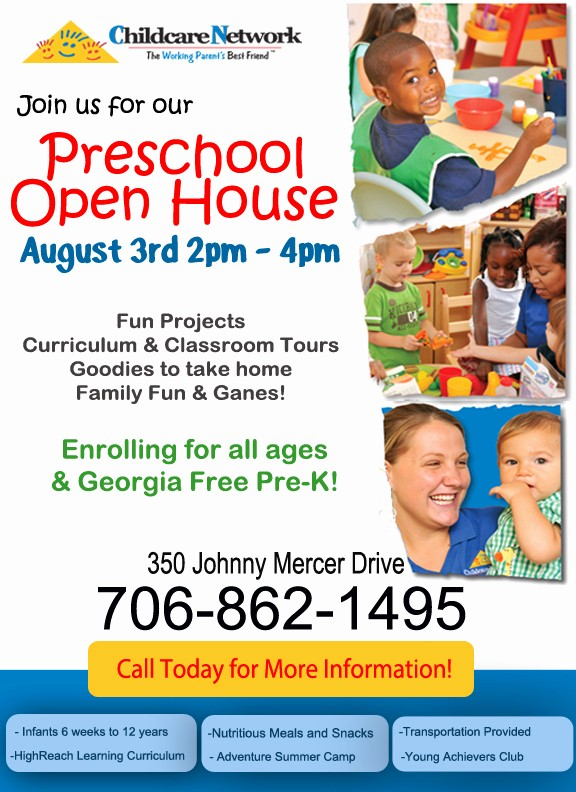 Open House Flyers for School Beautiful southern Mamas Blog Archive Savannah Childcare & Free