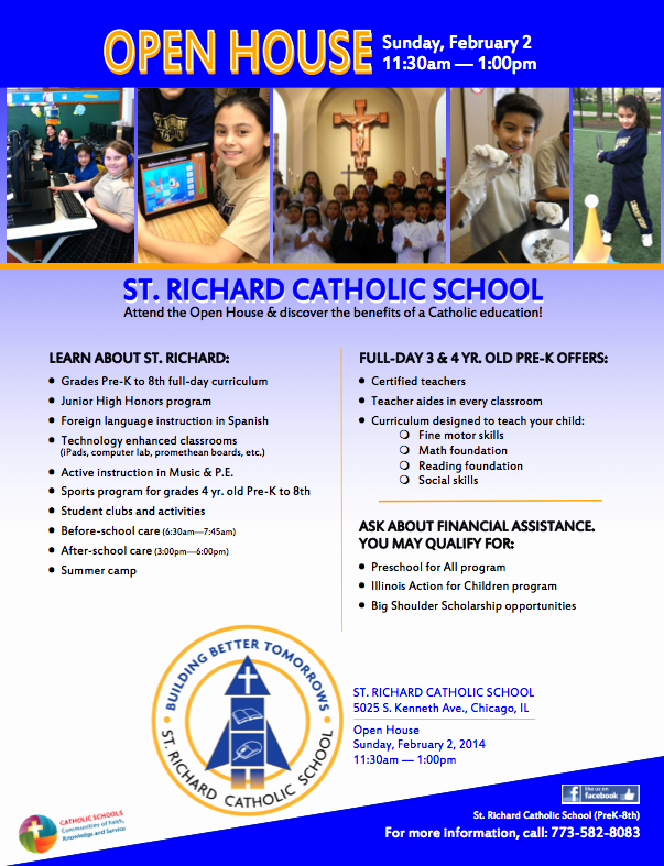 Open House Flyers for School Elegant southwest Chicago Post January 2014