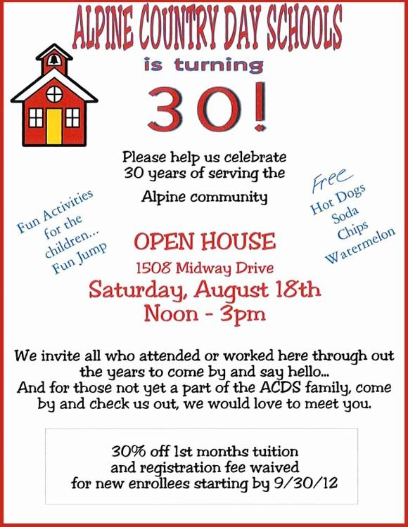 Open House Flyers for School Fresh 7 Best Of Elementary School Open House Flyer