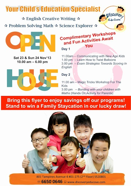 Open House Flyers for School Lovely Cheekiemonkies Singapore Parenting & Lifestyle Blog Open