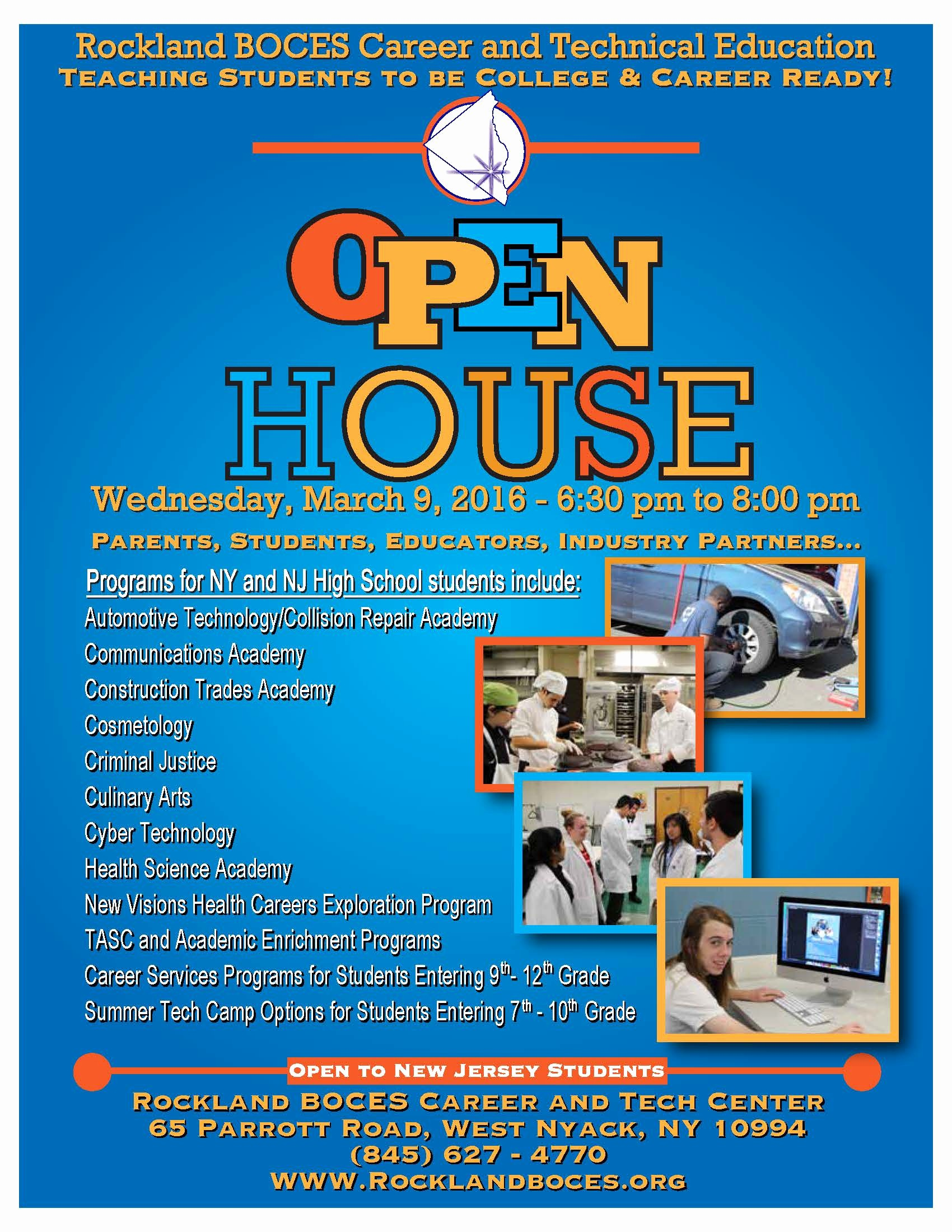 Open House Flyers for School Lovely Ctec Open House for Prospective Students is March 9
