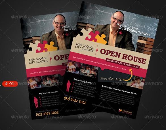 Open House Flyers for School Lovely School Open House Flyer Template Yourweek Ddc8c6eca25e