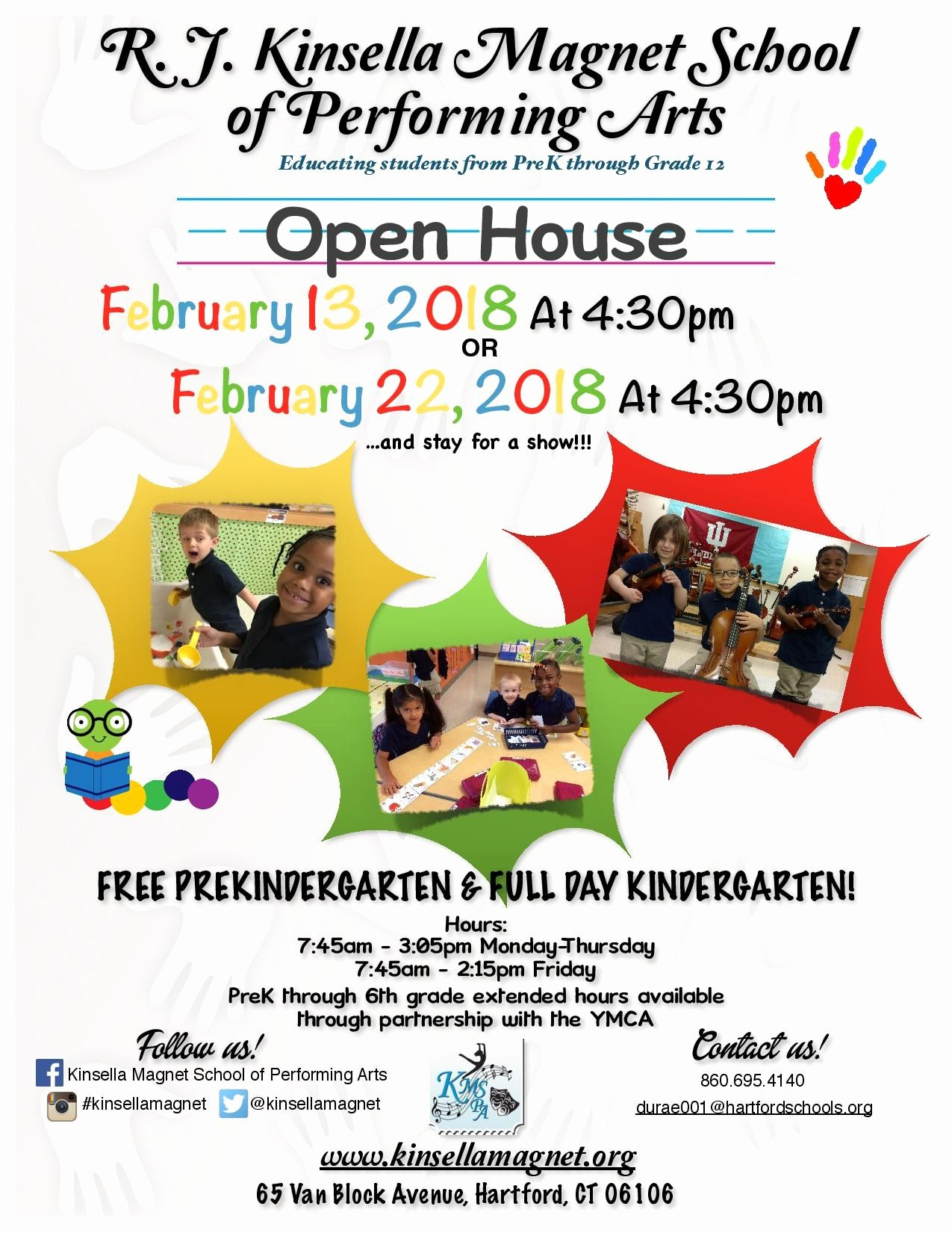 Open House Flyers for School New Open House and Shadow Dates – Admissions – R J Kinsella