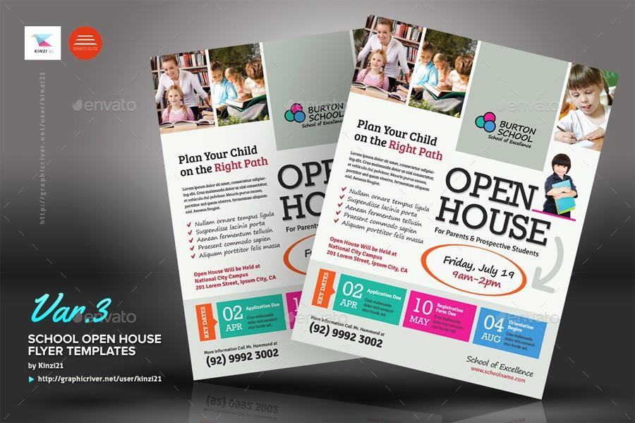 Open House Flyers for School New School Open House Flyers by Kinz On Luxury Free Open House