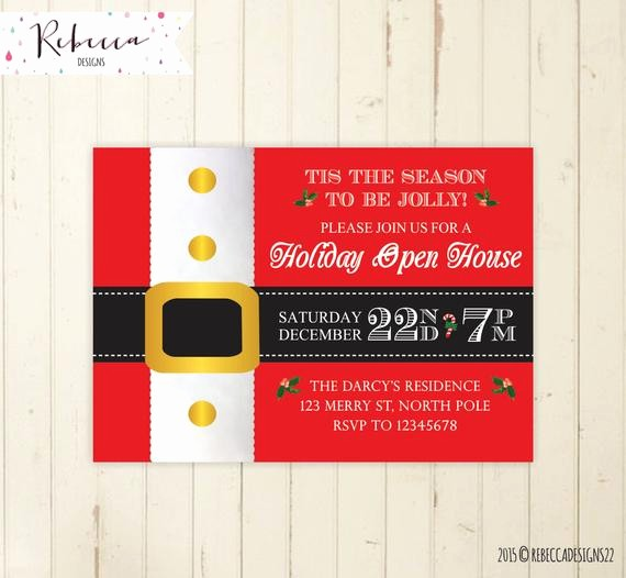 Open House Invitations for Business Awesome Christmas Open House Invitation Holiday Open House