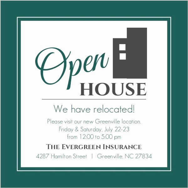 Open House Invitations for Business Awesome Modern Everygreen Business Open House Invitation