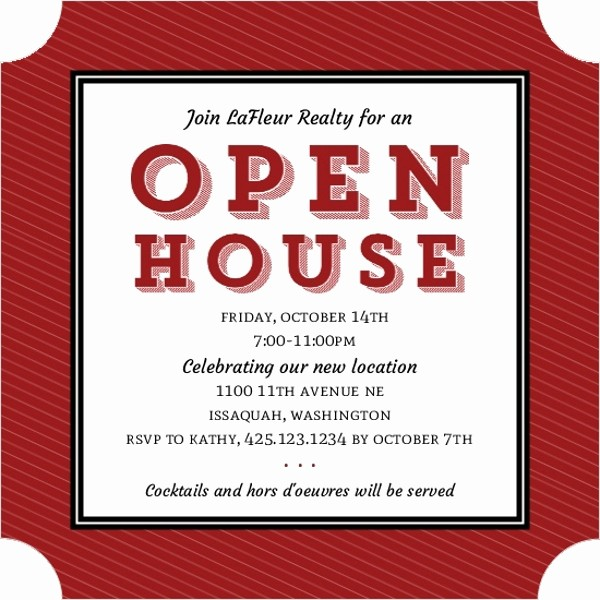 Open House Invitations for Business Beautiful Block Type Corporate Open House Invitation