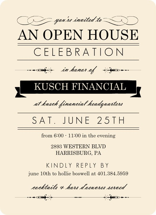 Open House Invitations for Business Best Of Fantastic Open House Invitation Wording for Business 5