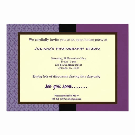 Open House Invitations for Business Elegant Open House New Business Personalized Announcements