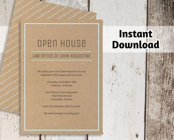 Open House Invitations for Business Inspirational Printable Business Invitation Template Open House Business