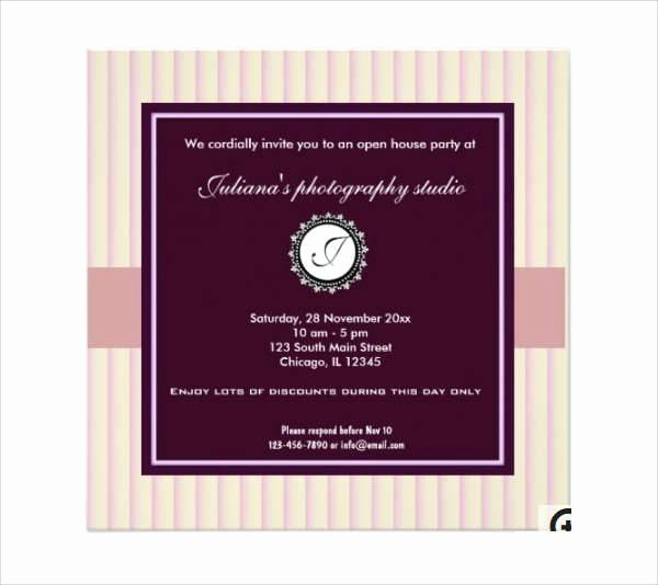 Open House Invitations for Business Luxury 28 Business Invitation Designs