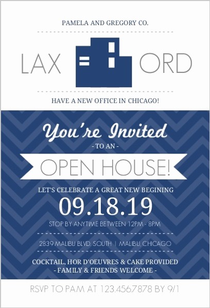 Open House Invitations for Business Luxury Navy Blue Fice Modern Business Open House Invite