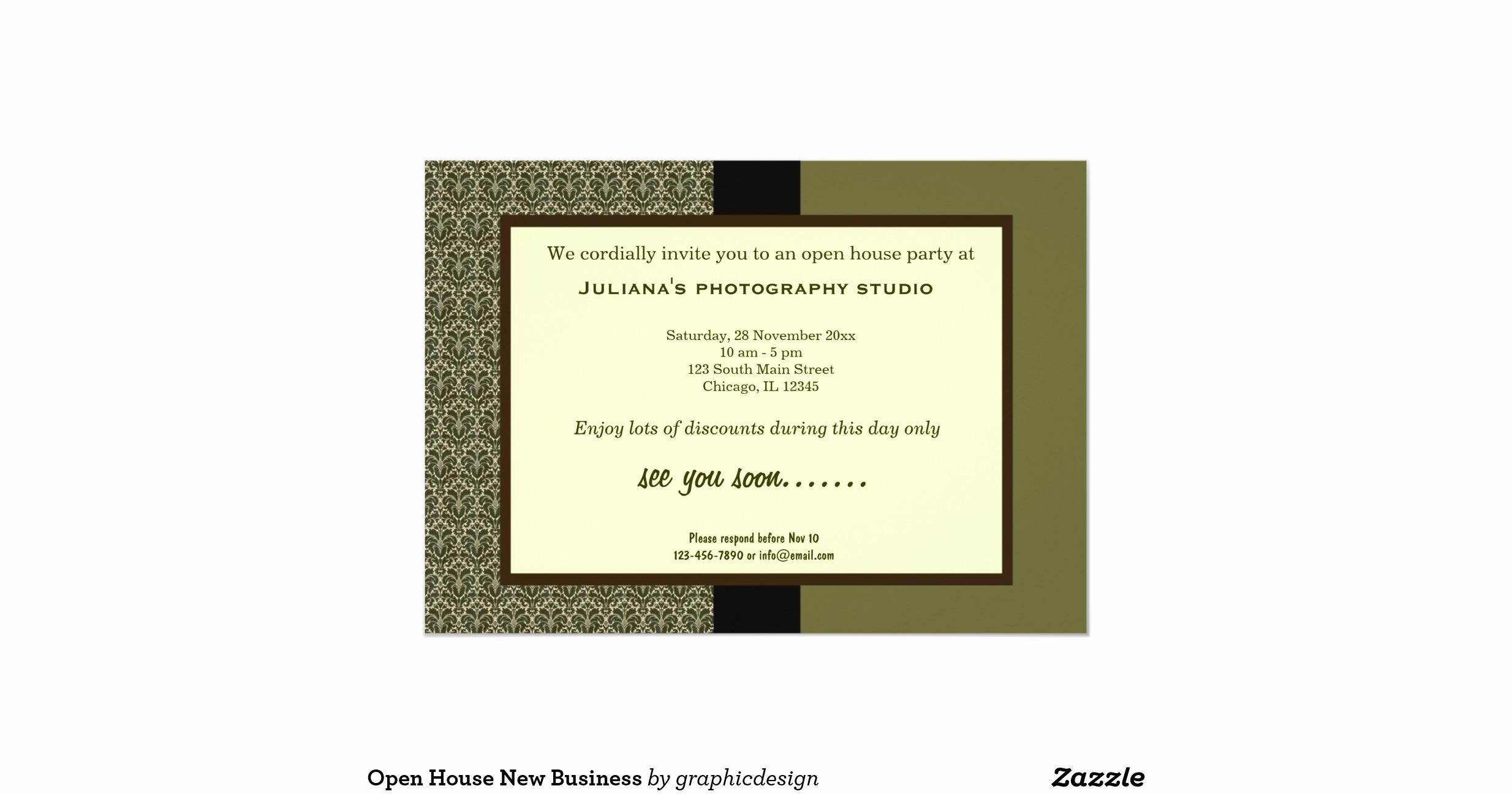 "Open House Invitations for Business Luxury Open House New Business 5"" X 7"" Invitation Card"