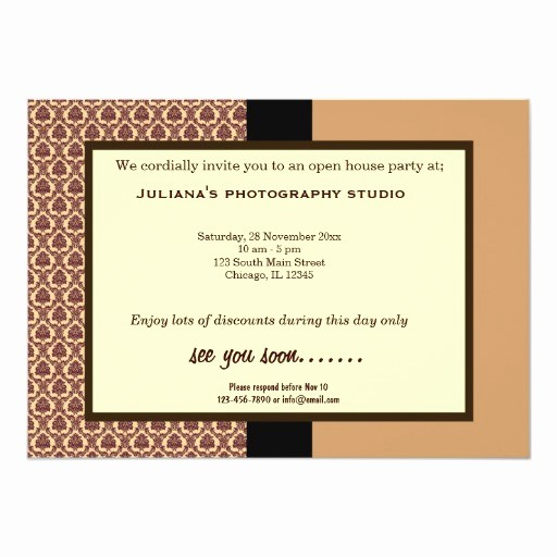 Open House Invitations for Business Luxury Open House New Business 5x7 Paper Invitation Card