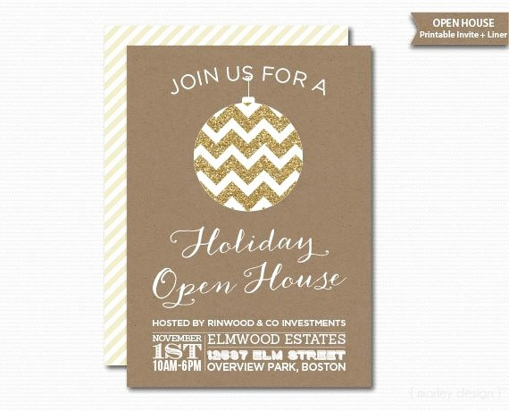Open House Invitations for Business Luxury Pany Open House Invitation Printable Christmas Invitation