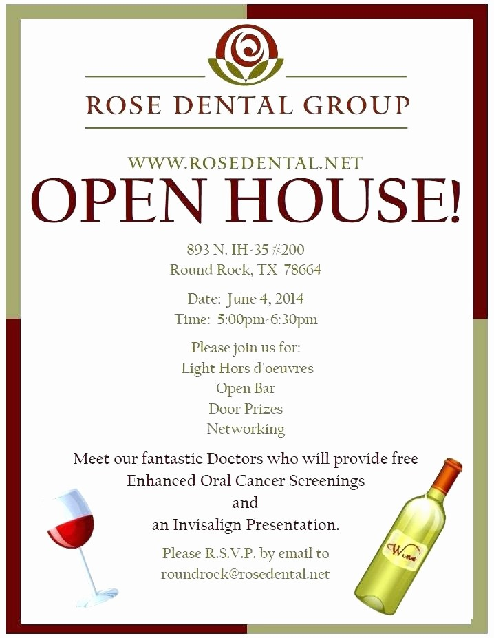 Open House Invitations for Business New Business Open House Invitation Business Open House