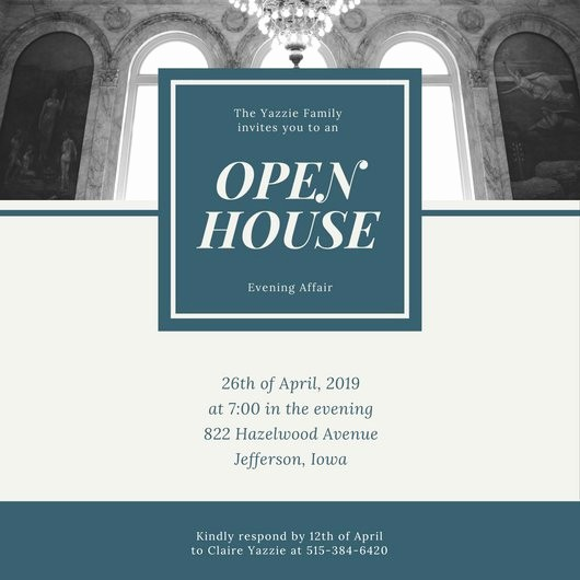Open House Invitations for Business New Customize 498 Open House Invitation Templates Online Canva