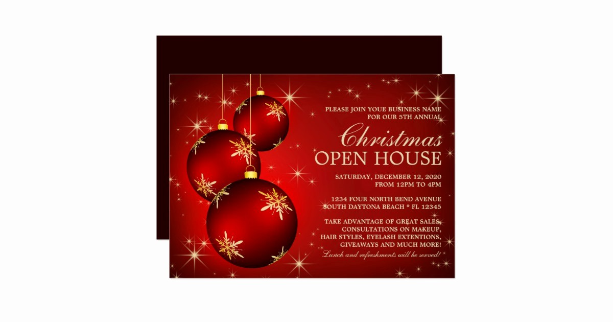 business christmas open house invitations