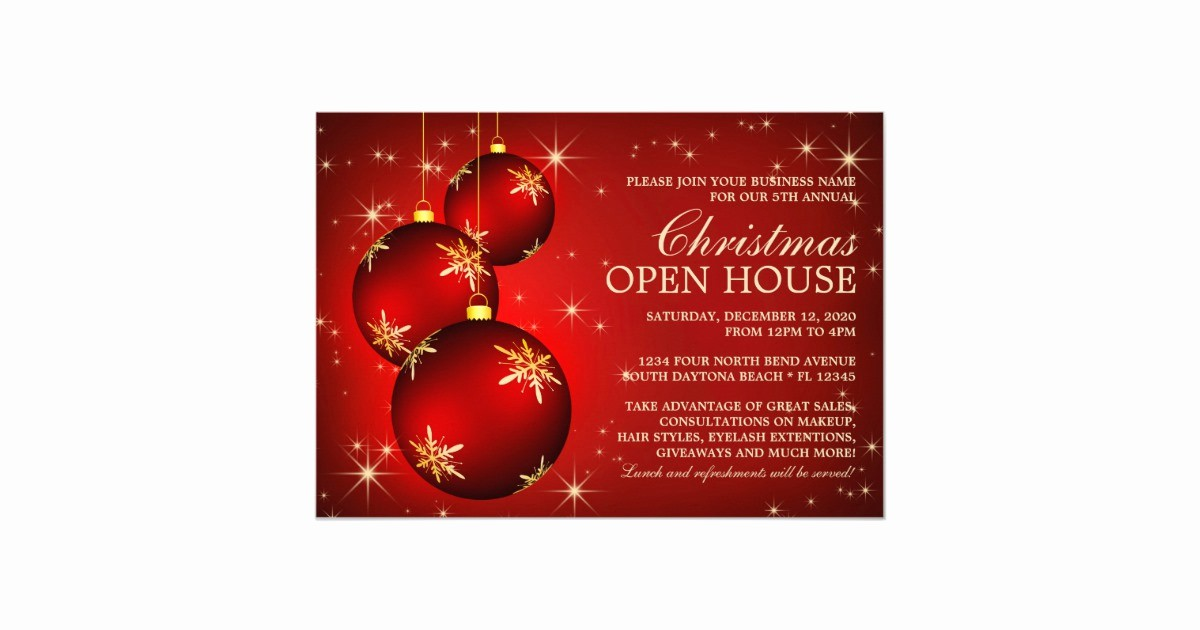 Open House Invitations for Business Unique Business Christmas Open House Invitations