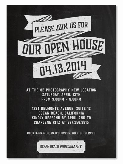 Open House Invitations for Business Unique Business event Invitations Open House by Green Business