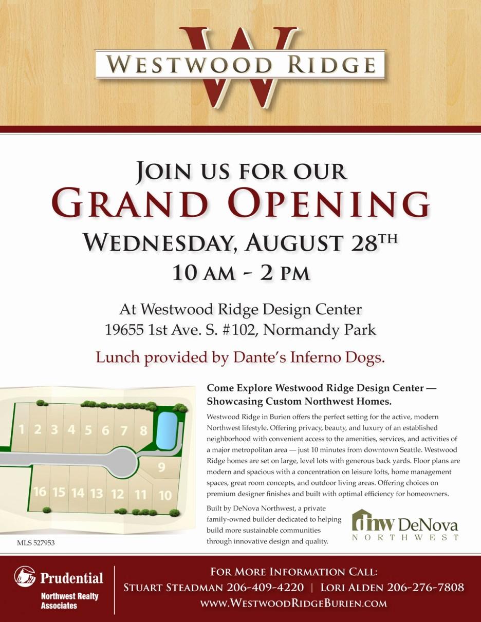 Open House Invitations for Business Unique Grand Opening Business Open House Invitation New