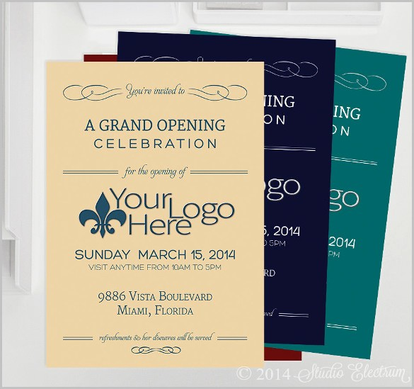 Open Office Birthday Card Template Lovely Grand Opening Invitation Template Free Templates Data